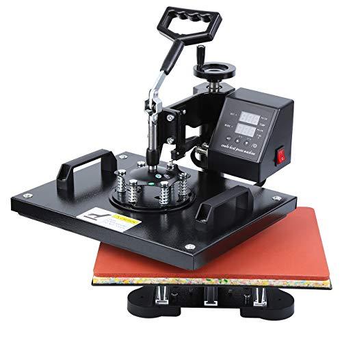"Ridgeyard Upgrade Hitze Presse Maschine Digitale Ubertragung Sublimation Becher T-Shirt Platte Kappe Hut Heat Press Machine 15\""X12\"" (T-Shirt-Hitzepressemaschine)"