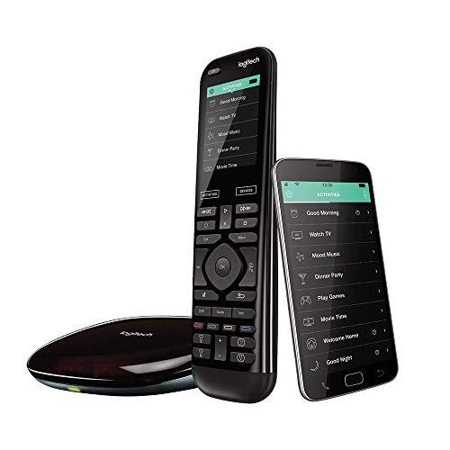 Logitech Harmony Elite Télécommande Universelle, Pour Freebox, Apple TV, Roku, Netflix, Sonos et Contrôle Domotique, App & Hub, Actions Rapides, Configuration Facile, LG/Samsung/Sony/Xbox/PS4 - Noir