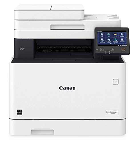 Canon Color imageCLASS MF741Cdw - Multifunction, Wireless, Mobile Ready, Duplex Laser Printer (Comes with 3 Year Limited Warranty), White, Mid Size, Amazon Dash Replenishment Ready