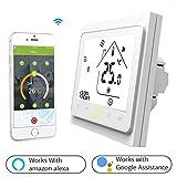 Thermostat WiFi pour chaudière gaz/eau,Thermostat intelligent Écran...