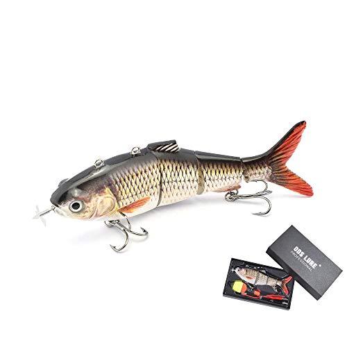 ODS Esca da pesca elettrica con lampada LED USB ricaricabile Lure galleggiante Wobbler Robot Fishing Lure acqua dolce acqua salata per pesce persico Zander