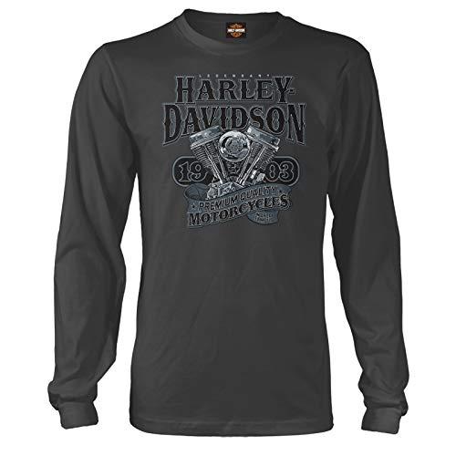 HARLEY-DAVIDSON ミリタリー - メンズ長袖グラフィックTシャツ - オーバーシーズツアー   ビッグV-ツイン US サイズ: XX-Large カラー: ブラック