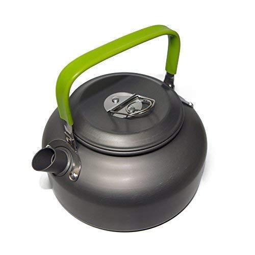 Ecent Tragbar Aluminium Camping Wasserkocher Kessel Teekanne Kaffeekanne für Outdoor Picknick Wandern 0,8L / 1,2L