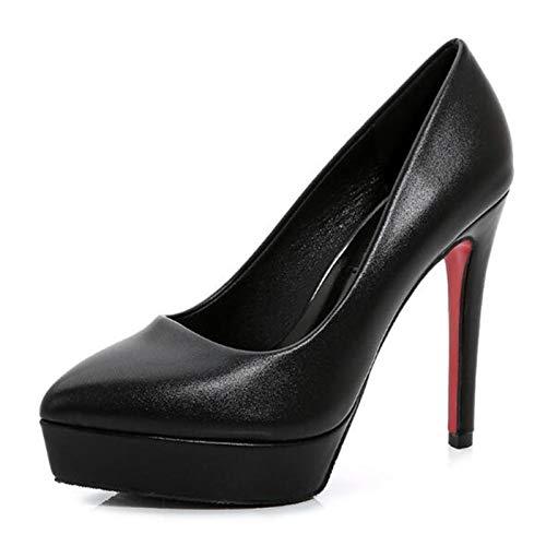 DQS Escarpins pour Femmes Chaussures Sexy Talon Mince Talons Hauts 12 CM Pompes Pointues Femmes Chaussures Plate-Forme Chaussures de Mariage Chaussures de fête