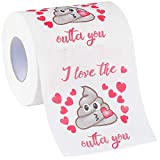 HESONTA Valentines Day Funny Toilet Paper Gag Gift - Romantic Novelty Gag Gifts for Her Him Anniversary Present