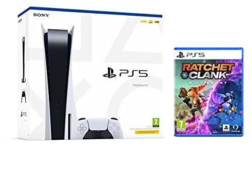 PS5 Konsole Sony PlayStation 5 - Standard Edition, 825 GB, 4K, HDR (Mit Laufwerk) + Ratchet & Clank: Rift Apart [PlayStation 5]