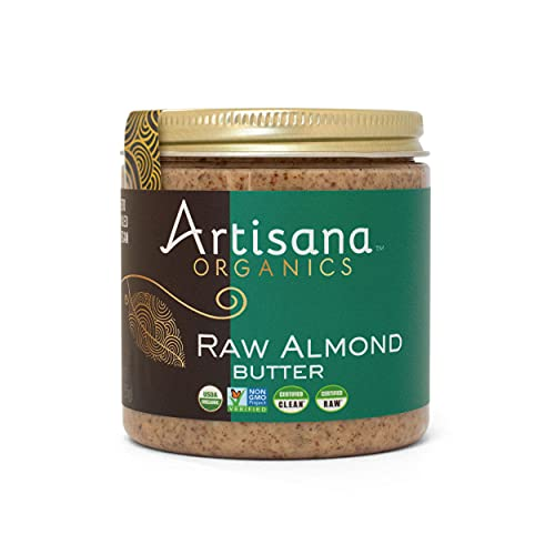 Artisana Organics Non GMO Raw Almond Butter, 9 oz   No Sugar Added, Vegan Paleo and Keto Friendly