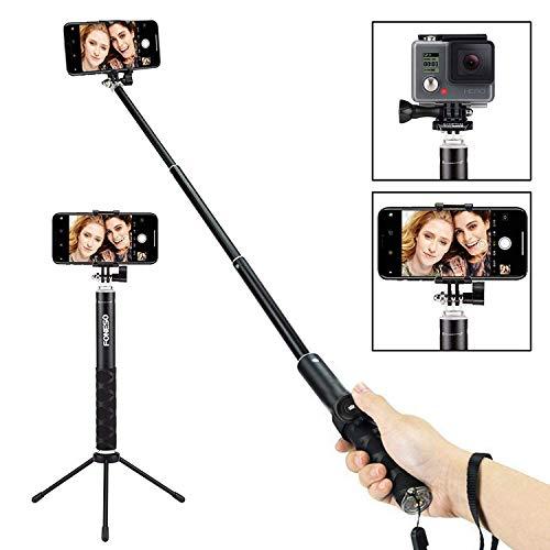 Foneso Bluetooth Selfie Stick Stativ , Wireless Selfie-Stange Stab 360°Rotation mit Bluetooth-Fernauslöse für Phone Android Samsung 3,5-6 Zoll Smartphones