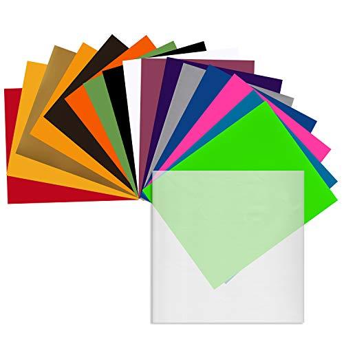 Angel Crafts 12' x 10' Heat Transfer Vinyl Sheets (16 Pack) w/Teflon...