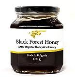 450 g Bio Miel de Miellat de Forêt Noire, Cru, non Chauffé, sans Sucre, non Pasteurisée, sans Additifs