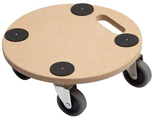 Metafranc Pflanzenroller Ø 350 mm - 150 kg Tragkraft - MDF-Platte - TPE-Räder / Möbelroller / Untersetzer mit Rollen / Transporthilfe für Pflanzen / 821360