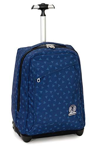 Trolley Invicta Triangle, Blu, 35 Lt, 2in1 Zaino con Sollevamento Spallacci per uso Trolley, Scuola...