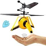 Future Dron Y UFO cuadricóptero helicóptero con control por sensor (amarillo), fácil de controlar...