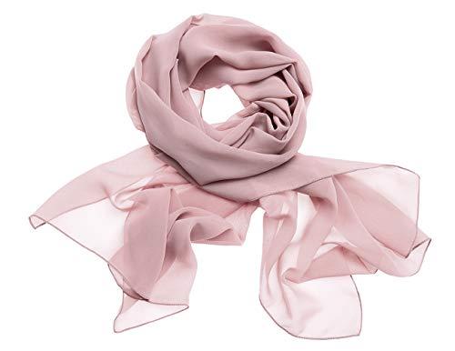 Dresstells Chiffon Schal Stola für Abendkleider in Verschiedenen Farben Blush 180cmX72cm/ Small