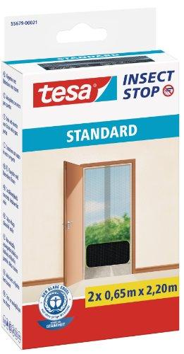 tesa 55679-00021-02 TE55679-00021-03 Malla Standard para puertas 2 telas de 0,65cm x 2,2m negra, anthrazit (durchsichtig), 2X 0,65m