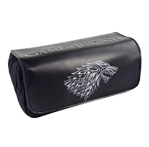 FIFY Neceseres para Maquillaje Game Movie Logo Bag Game of Thrones Gran Capacidad Doble Cremallera Lápiz Monedero Bolsos de cosméticos de Moda Anime 20 * 9 * 6.5 cm