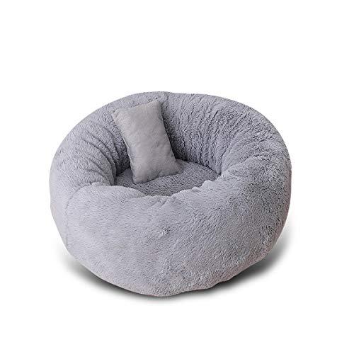PETCUTE Flauschiges Katzenbett hundekorb warmes Welpenbett weiches Katzennestbett Katze Nest kuscheliges Hundebett für den Winter M