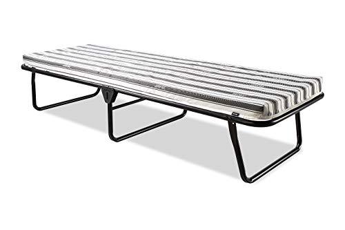 JAY-BE Value Folding Bed with Rebound e-Fibre Mattress, Fabric, Black, Lightweight