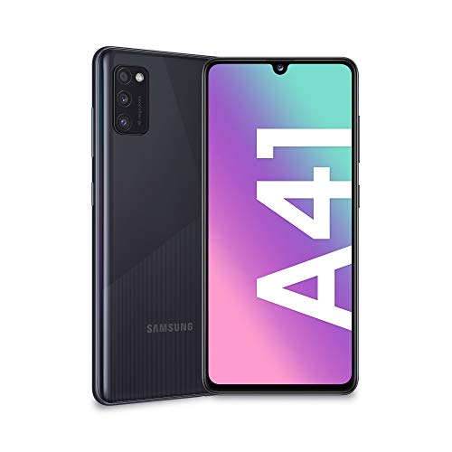 Samsung Galaxy A41, Smartphone, Schermo Super AMOLED da 6,1', 3 fotocamere posteriori, 64 GB espandibili, 4 GB RAM, batteria 3500 mAh, 4G, Dual SIM, Android 10, 151 g, Colore nero