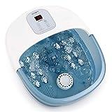 Bains de Pieds avec bulles de chaleur et vibrations, 14 rouleaux de massage...