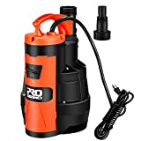 Sump Pump, PROSTORMER 3500 GPH 1HP Submersible Clean/Dirty Water Pump with Build-in Float Switch for Pool, Pond,Garden, Flooded Cellar, Aquarium and Irrigation …