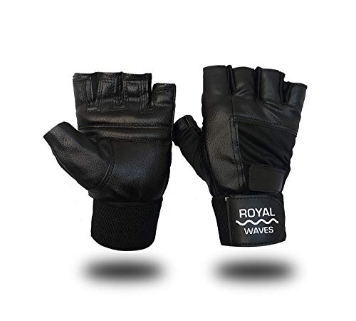 Royal waves Gym Gloves/Cycling Gloves/Riding Gloves/Stretchable Size for Both Men and Women, Black...