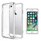 Moozy Coque Silicone Transparente pour iPhone Se, iPhone 5s - Anti Choc Crystal...