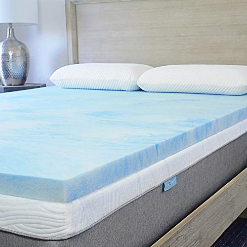 Sure2Sleep Queen Premium, 3 LB. Cool Gel Swirl Memory Foam Mattress Topper Made in USA 2-Inch