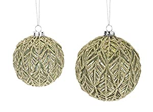 Glass Ball Ornament Set of 2 Brand name: Melrose Size: 3.5 Inches Height and 4.5 Inches Height Material: Glass