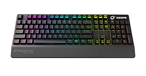 Ozone Strike Pro Spectra - OZSTKPROSPECTRASPRD - Teclado Gaming Switches Mecánicos, LED, Color Negro