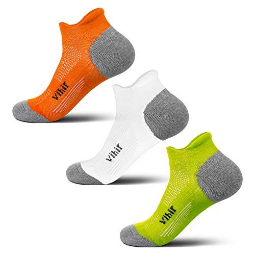 Vihir Anti-Blister Running Socks -Track Socks Women Men For Marathon Runners, No Show Low Cut Sweat Resistant Socks