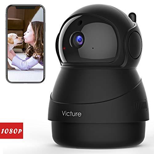 Victure FHD 1080P Telecamera di Sorveglianza WiFi, Videocamera WIFI Interna con Visione Notturna, Notifiche in tempo reale del rilevamento di movimento