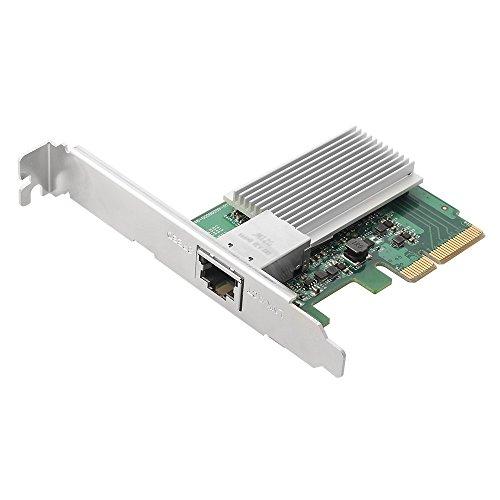 Edimax En-9320TX-E Adaptador y Tarjeta de Red Ethernet 10000 Mbit/s Interno - Accesorio de Red (Interno, Alámbrico, PCI Express, Ethernet, 10000 Mbit/s, Verde, Gris)