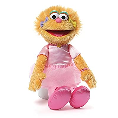 Ballerina Zoe plush with accurate details sure to please Sesame Street fans Soft, huggable material built to famous GUND quality standards Surface-washable; ages 1+ 12 inch height (30.5 cm) Features pink satin tutu with ballet slippers and colorful b...
