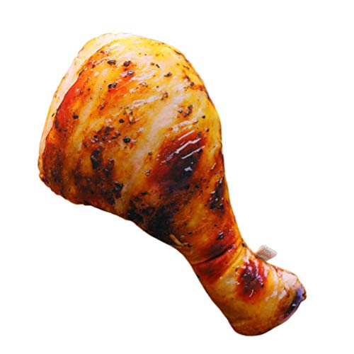 NUOBESTY Almohada de Pollo Almohada Comida Almohada Peluche de Juguete Sofá Decorativo sofá Cojín Cojín Divertido cojín Regalos de cumpleaños 60 cm (Pata de Pollo asado)