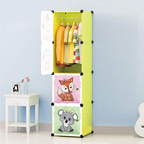 AZONEX Cube Box Plastic Wardrobe Closet Storage Organizer and Cabinet Rack for Hanging Clothes/Book Shelf for Living Room/Kids