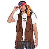 AMSCAN Fringe Vest Halloween Costume Accessory for Adults, One Size