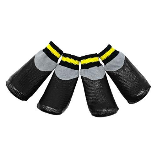 POPETPOP Stivali per Cani Scarpe da Cane protettive Impermeabili Stivaletti Invernali con Calzini Antiscivolo per Cani di Taglia Piccola, 0 x 3,5 x 2,8 cm