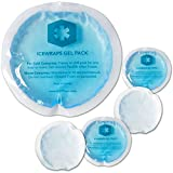 "ICEWRAPS 4"" Round Reusable Gel Ice Packs with Cloth Backing - Hot Cold Pack for Kids Injuries,..."