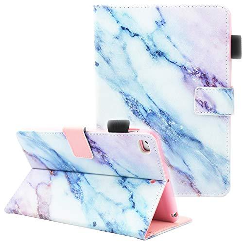 Fvimi iPad Mini Case, iPad Mini 2/3 Case, iPad Mini 4 Case, iPad Mini 5 Case, Multi-Angle Viewing Folio Smart Leather Cover with Auto Sleep/Wake for 7.9' Apple iPad Mini 1/2/3/4/5, Marble