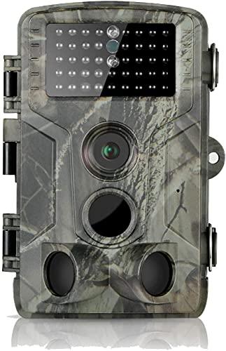 DIGITNOW! Fotocamera da Caccia 16MP 1080P HD Impermeabile, 120°Ampia visuale Fototrappola Infrarossi Invisibili 42 IR LED, Macchine fotografiche da Caccia Visione Notturna Fino a 80FT/25m