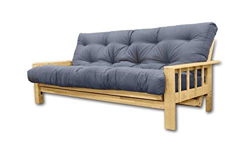 Divani Letto Vienna, futon Grigio, 207x100x30 cm