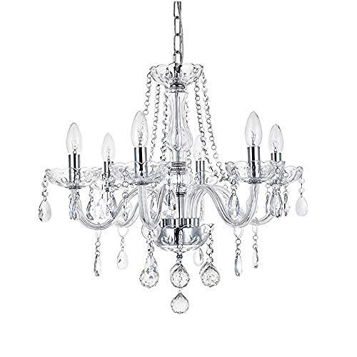 Moderno 6 luci chiaro gioiello di cristallo luce del pendente a sospensione Lampadario luce per...
