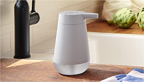 Introducing Amazon Smart Soap Dispenser, automatic 12-oz dispenser with 20-second timer, Works…