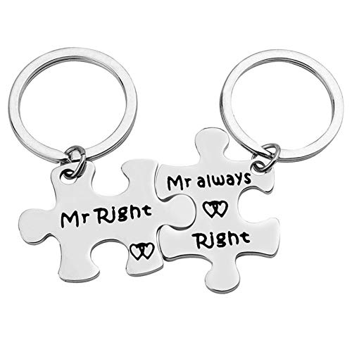 Gay Couple Gifts Keychain Gay Pride Gift Mr Right Mr always...