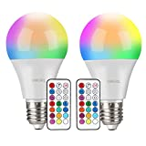 Ampoules LED Couleur (Lot de 2), OMERIL 10W RGBW Dimmable LED Bulbs E27...