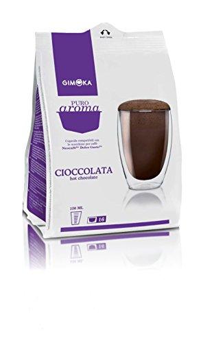 64 Capsule Gimoka Compatibili con Nescafé Dolce Gusto - 4 Confezioni da 16 Capsule - Cioccolata, 16 Unità (Confezione da 4)