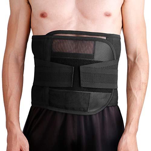Htwon Waist Trainer for Women & Men, Ultra Breathable Waist Trimmer Belt Sweat Wrap, Adjustable Ab Sauna Belt Stomach Fat Burner Wrap for Sports Exercise Slimming Shaping (XL)