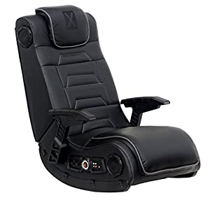 ALL PURPOSE GAMING CHAIR: Leather lounging game chair can be used for playing video games, watching movies and TV, listening to music, reading, and relaxing. COMPLETE MEDIA EXPERIENCE: Chair incorporates four forward facing speakers, audio force modu...