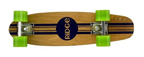 Ridge Maple Mini Retro Cruiser Skateboard, Unisex, Verde, UK: 22 Inch